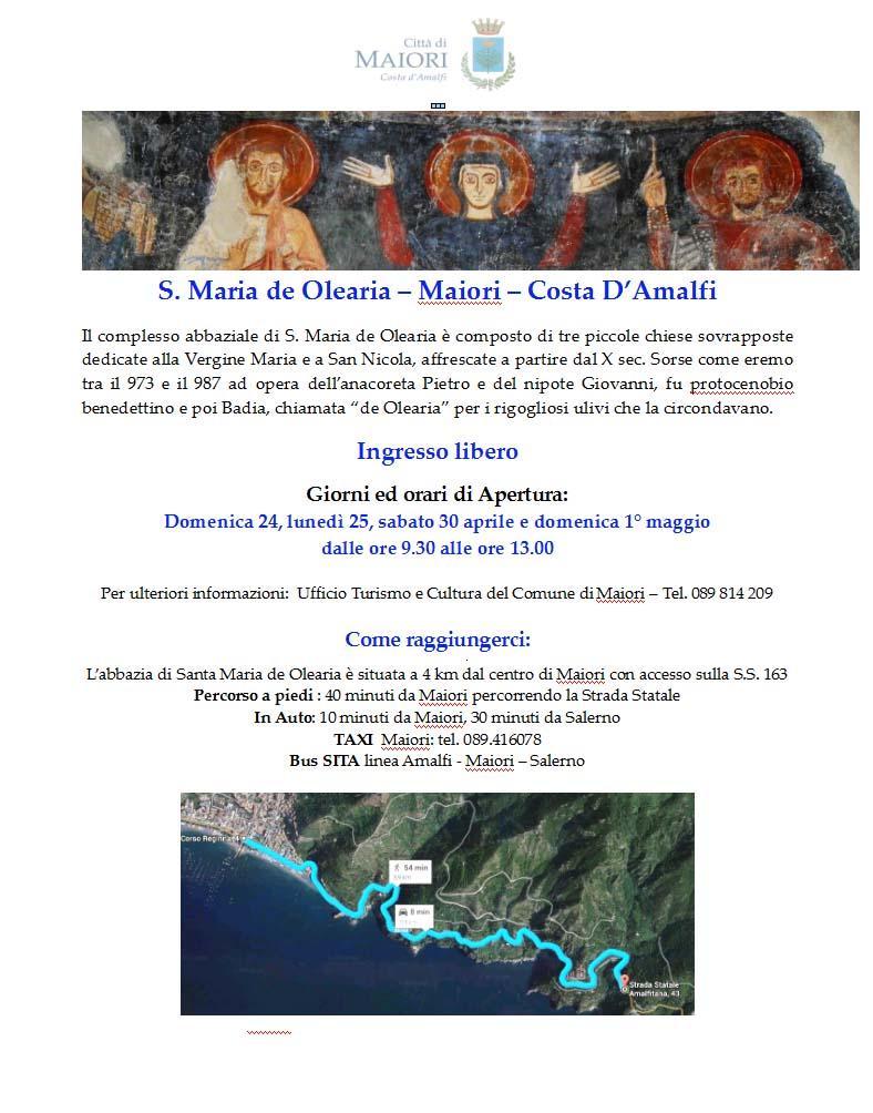 locandina S.Maria de Olearia