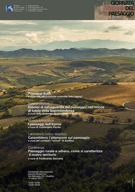 locandina giornate del paesaggio Avellino