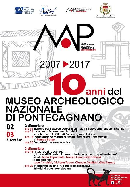 locandina 10 anni museo di pontecagnano